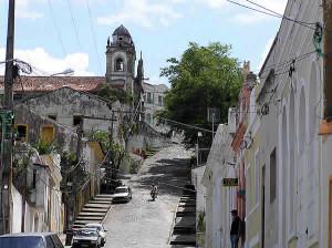 Une rue à Olinda, Brésil. Author and Copyright Marco Ramerini