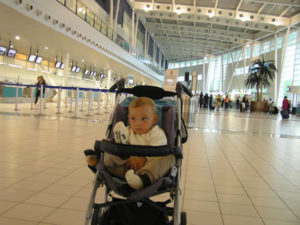Andrea à l'aéroport de Saint-Martin. Auteur et copyright Marco Ramerini