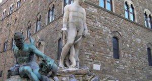 Biancone, Piazza della Signoria, Florence, Italie. Auteur et Copyright Marco Ramerini