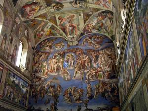 Chapelle Sixtine, Vatican, Rome, Italie. Auteur et Copyright Marco Ramerini