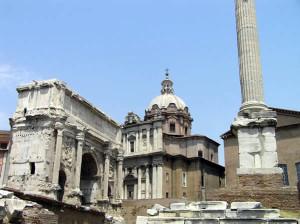 Forum romain, Rome, Italie. Auteur et Copyright Marco Ramerini