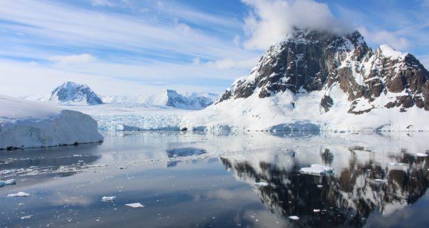 La baie avec le glacier, Lemaire Channel, Antarctique. Auteur et Copyright Marco Ramerini.