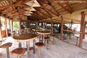 Le restaurant, Kuata, îles Yasawa, Fidji. Auteur et Copyright Marco Ramerini