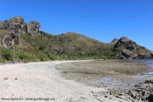 La plage sauvage sur le côté ouest, Kuata, îles Yasawa, Fidji. Auteur et Copyright Marco Ramerini