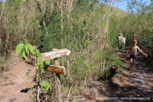 Le début de la piste au point le plus élevé de l'île, Kuata, îles Yasawa, Fidji. Auteur et Copyright Marco Ramerini