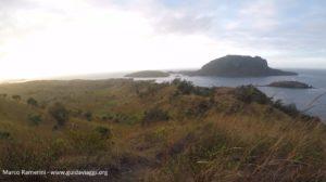 Vue depuis le mont Tamasua, Nabukeru, Yasawa, Fidji. Auteur et copyright Marco Ramerini