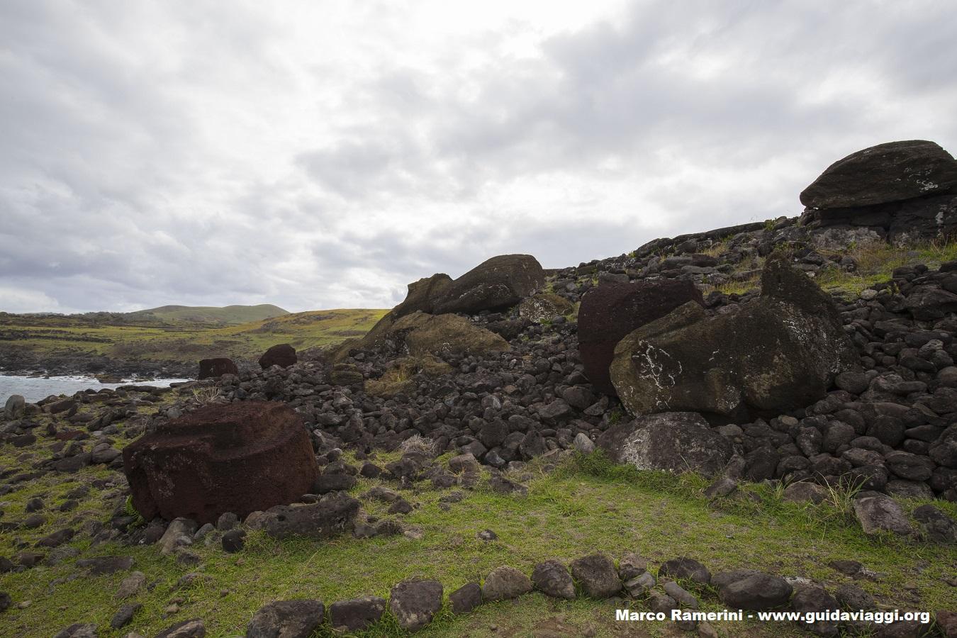 Ahu Akahanga, Île de Pâques, Chili. Auteur et Copyright Marco Ramerini