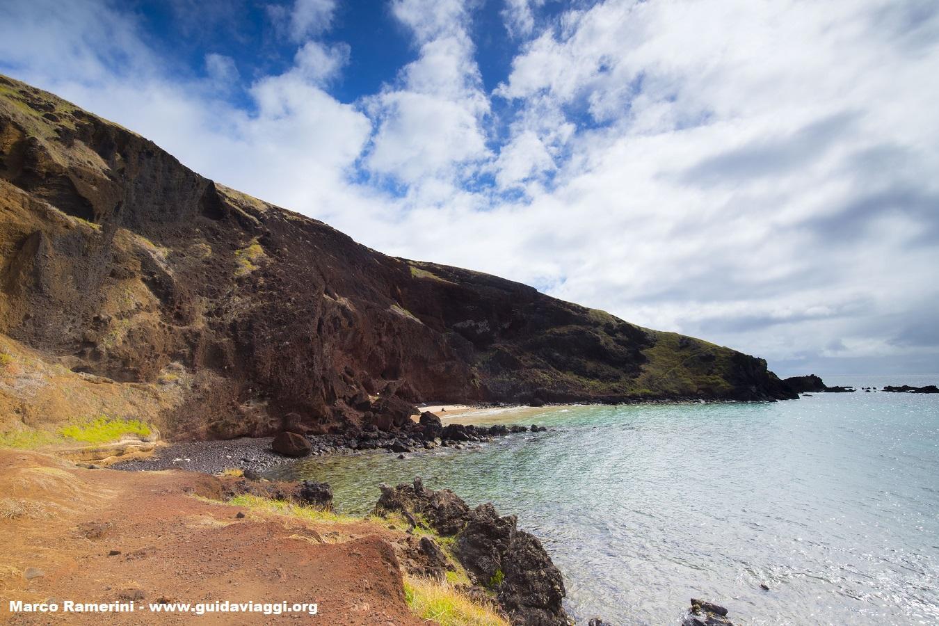 Ovahe, Île de Pâques, Chili. Auteur et Copyright Marco Ramerini
