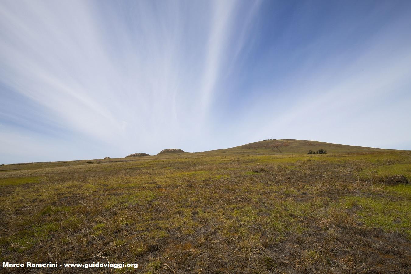 Volcan Poike, Île de Pâques, Chili. Auteur et Copyright Marco Ramerini