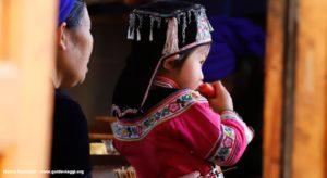 Enfant, Qingkou, Yuanyang, Yunnan, Chine. Auteur et Copyright Marco Ramerini