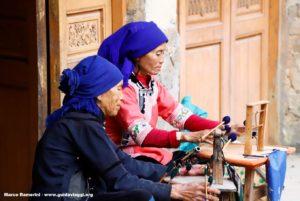 Femmes, Qingkou, Yuanyang, Yunnan, Chine. Auteur et Copyright Marco Ramerini