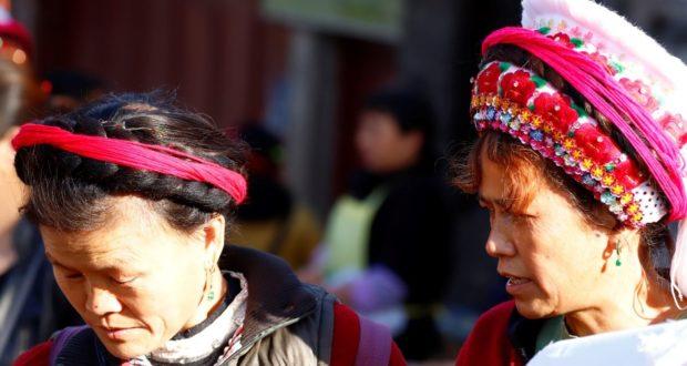 Femmes au marché de Zhoucheng, Yunnan, Chine. Auteur et Copyright Marco Ramerini