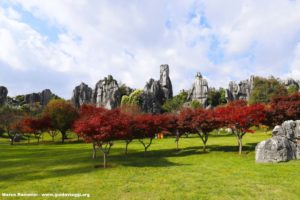 Forêt de pierre, Shilin, Yunnan, Chine. Auteur et Copyright Marco Ramerini