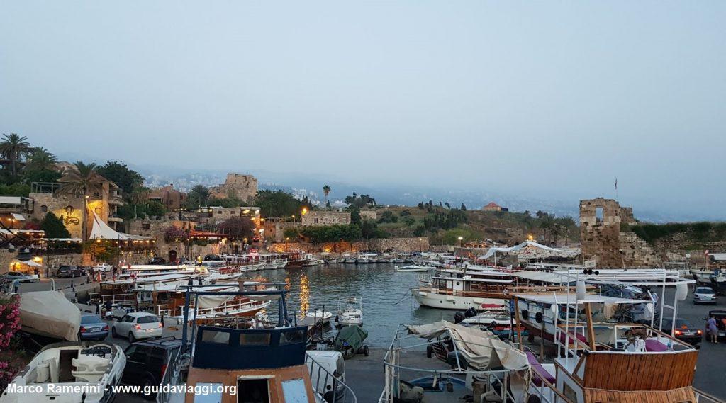 La marina de Byblos, Liban. Auteur et Copyright Marco Ramerini