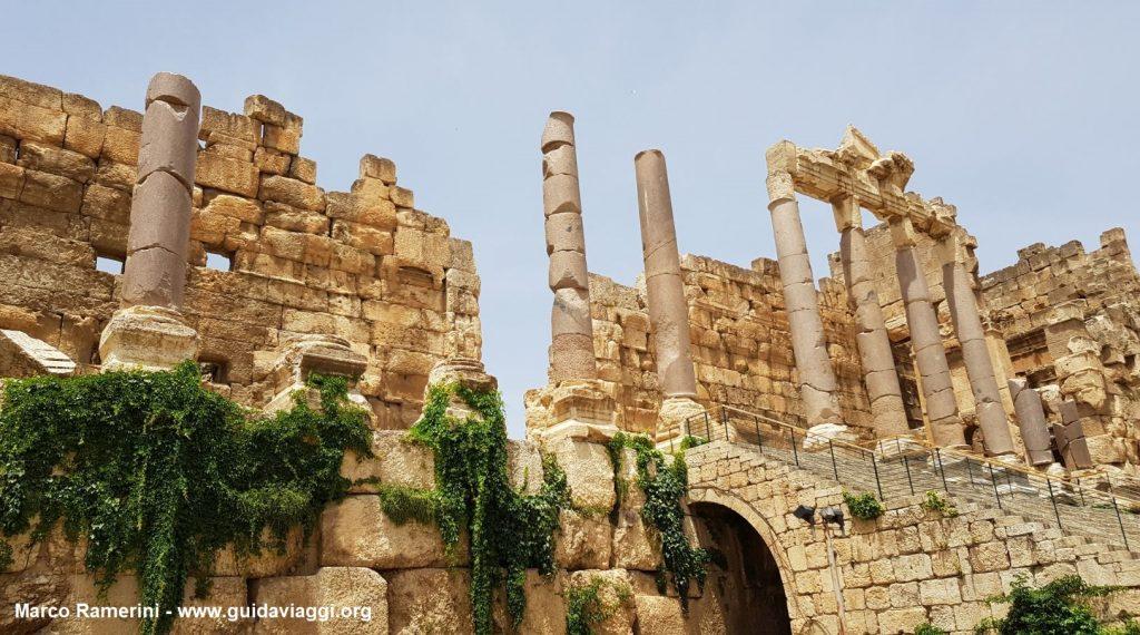L'entrée de Baalbek, vallée de la Bekaa, Liban. Auteur et Copyright Marco Ramerini
